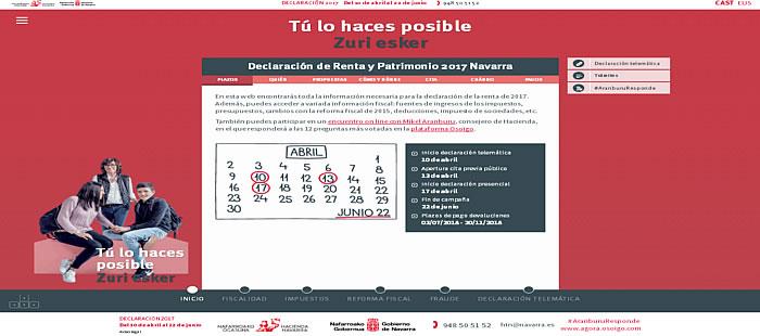 Campaña Renta 2017 - Gobierno de Navarra
